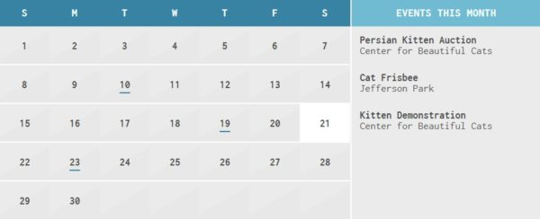 Html Calendario.Clndr Js Plugin Jquery Calendario Personalizable Zoedev